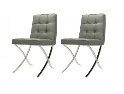 Image of the design chair Barcelona Dining chair - Grey (2 Chairs)