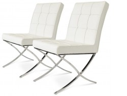 Image of the design chair Barcelona Dining chair - White (2 Chairs)