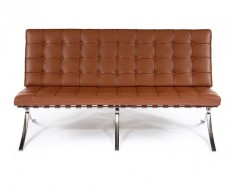 Image of the design chair Barcelona sofa 2 seater - Premium Cognac
