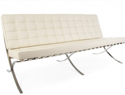Image of the design chair Barcelona sofa 3 seater - Cream