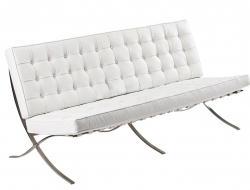 Image of the design chair Barcelona sofa 3 seater - White
