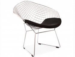 Image of the design chair Bertoia Wire Chair Diamond - Black