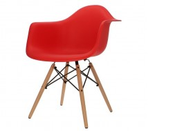 Image of the design chair DAW chair - Bright red