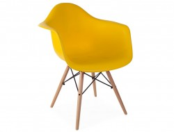 Image of the design chair DAW chair - Yellow mustard