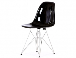 Image of the design chair DSR chair - Black shiny