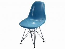 Image of the design chair DSR chair - Blue shiny