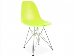 Image of the design chair DSR chair - Clear green