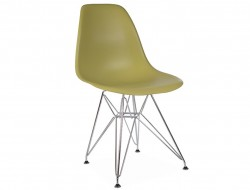 Image of the design chair DSR chair - Green mustard