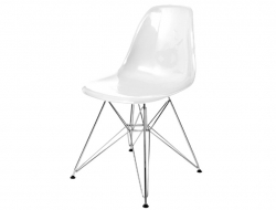 Image of the design chair DSR chair - White shiny