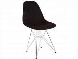 Image of the design chair DSR chair wool padded - Black