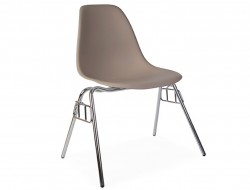 Image of the design chair DSS chair stackable - Beige grey