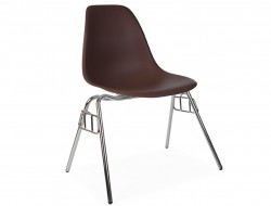 Image of the design chair DSS chair stackable - Coffee