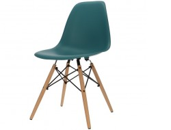 Image of the design chair DSW chair - Blue green