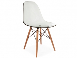 Image of the design chair DSW chair - Clear grey