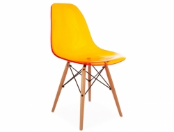 Image of the design chair DSW chair - Clear orange