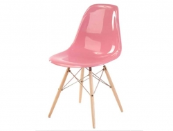 Image of the design chair DSW chair - Pink shiny