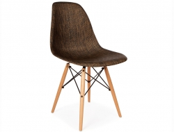 Image of the design chair DSW chair Weave - Cocoa