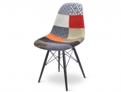 Image of the design chair DSW chair wool padded - Patchwork