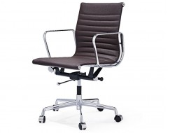 Image of the design chair Eames chair Alu EA117 - Dark brown