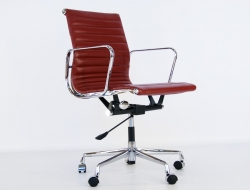 Image of the design chair Eames chair Alu EA117 - Dark red