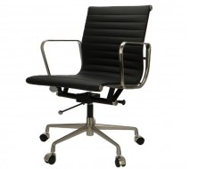 Image of the design chair Eames chair Alu EA117 Premium  - Black
