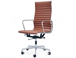 Image of the design chair Eames chair Alu EA119 - Cognac