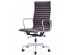 Image of the design chair Eames chair Alu EA119 - Dark brown