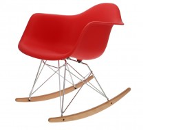 Image of the design chair Eames Rocking Chair RAR - Bright red