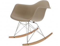 Image of the design chair Eames Rocking Chair RAR - Gray beige
