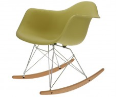 Image of the design chair Eames Rocking Chair RAR - Olive green