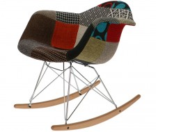 Image of the design chair Eames Rocking Chair RAR - Patchwork