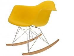 Image of the design chair Eames Rocking Chair RAR - Yellow