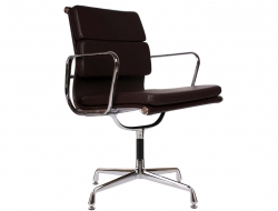 Image of the design chair Eames Soft Pad EA208 - Dark brown