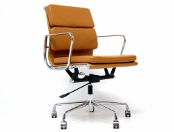 Image of the design chair Eames Soft Pad EA217 - Havana
