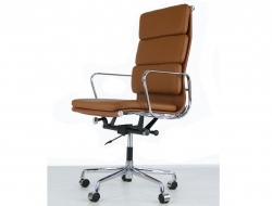 Image of the design chair Eames Soft Pad EA219 - Caramel