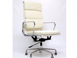 Image of the design chair Eames Soft Pad EA219 - Ivory white
