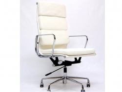 Image of the design chair Eames Soft Pad EA219 - White