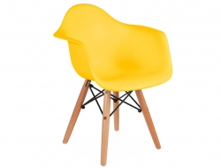 Image of the design chair Kids Chair Eames DAW - Yellow