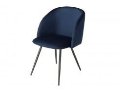 Image of the design chair Orville Chair Vesper  - Blue Velor