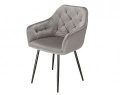 Image of the design chair Orville Chair Vinny - Gray Velor