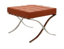 Image of the design chair Ottoman Barcelona - Cognac