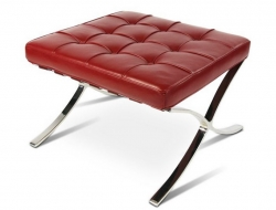 Image of the design chair Ottoman Barcelona - Dark red