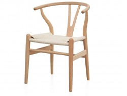 Image of the design chair Wegner Chair Wishbone CH 24 - Natural beech wood