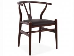 Image of the design chair Wegner Wishbone Troy - Brown/Black