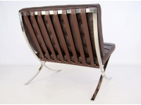 Image of the design chair Barcelona chair - Dark brown