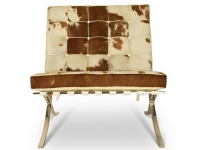 Image of the design chair Barcelona chair Pony - Brown & white