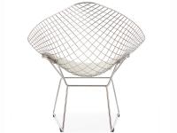 Image of the design chair Bertoia Wire Chair Diamond - White