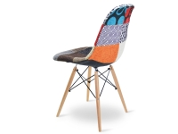 Image of the design chair COSY wooden chair padded - Patchwork