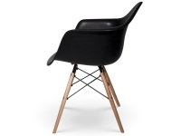 Image of the design chair COSY wooden Eames chair - Black