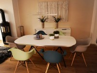 Image of the design chair DAW Eames chair - Blue green
